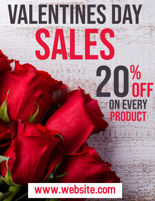 valentines day sales flyer
