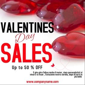 Valentines day sales instagram post ad