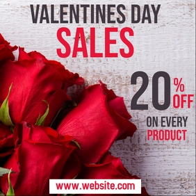 valentines day sales instagram post