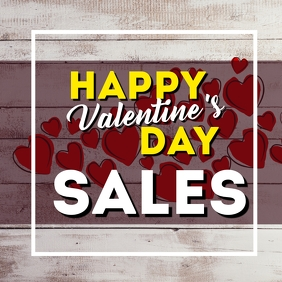 Valentines day sales retail instagram post ad