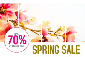 SPRING spa and beauty treatment sale poster