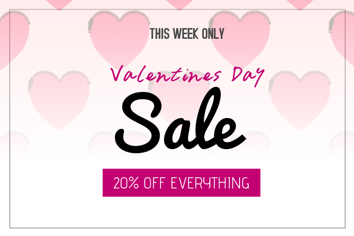 valentines day special sale pink landscape template