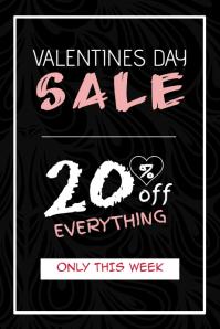 valentines day special sale portrait balck poster