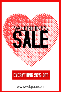 valentines day special sale portrait poster