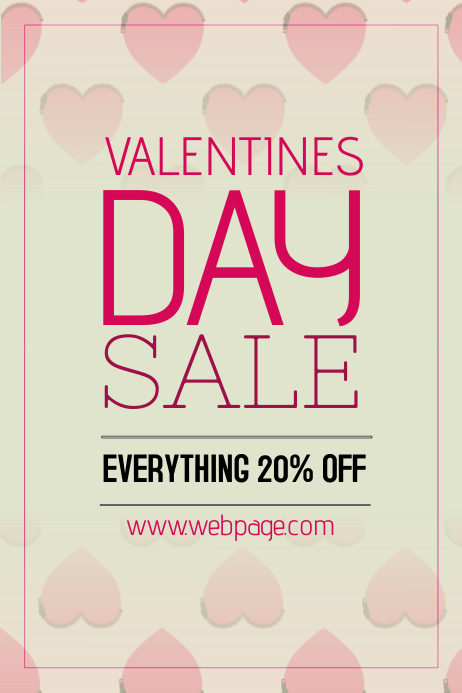 valentines day special sale portrait poster template