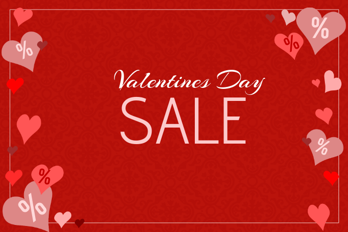 3cd785ba793a valentines day special sale red landscape poster template | PosterMyWall