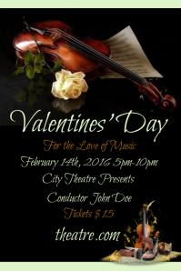 Valentines Day Violin Violen Concert