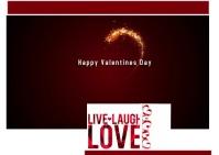 Valentines Days 2021 postcard template