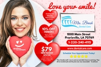 Valentines Dental Ads Этикетка template