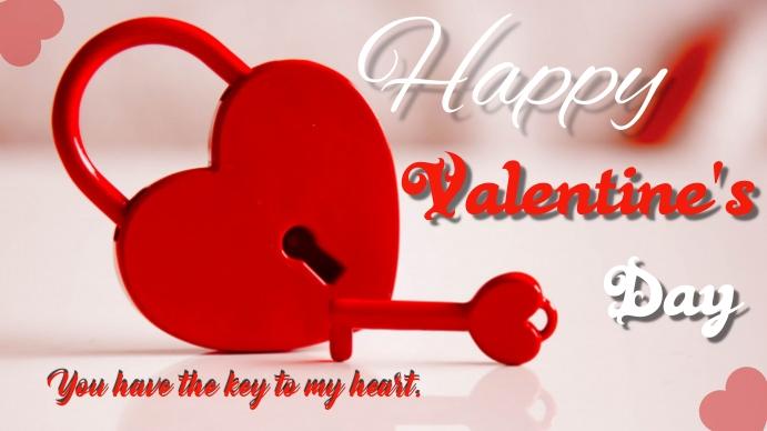 Valentines Digitalt display (16:9) template