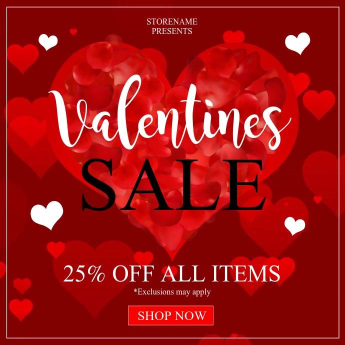 Valentines Publicação no Instagram template