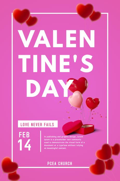 Valentines โปสเตอร์ template