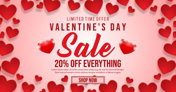 Valentines delt Facebook-billede template