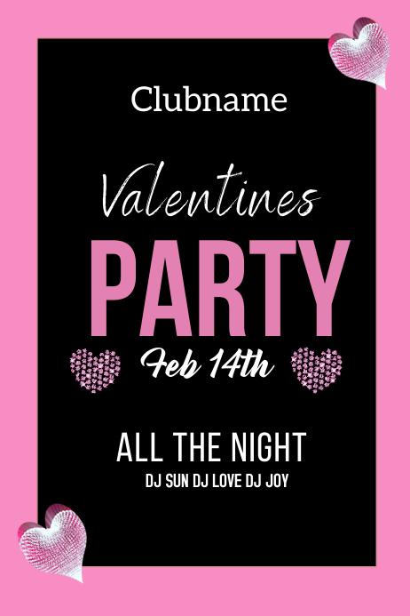 Valentines Plakat template