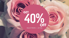 Valentines Digital Display Discount Template