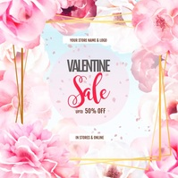 Valentines Digital Display video ad template Persegi (1:1)