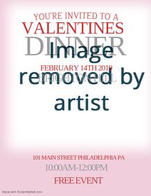 Valentines Dinner Event Flyer Template