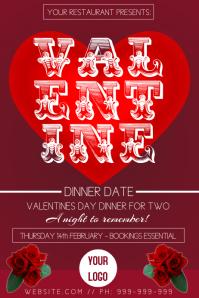 Valentines Dinner Poster