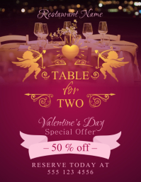 Valentines Dinner Promotion Flyer Template