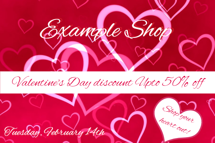 valentines discount poster template