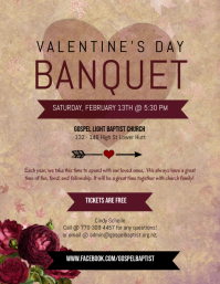 Valentines Event Banquet Flyer Template