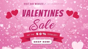 valentines event flyer template Digitalt display (16:9)