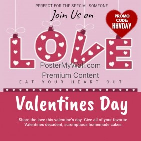 Valentines Event Instagram Template