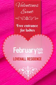 valentines event pink poster