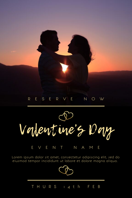 Valentines Event Poster Template