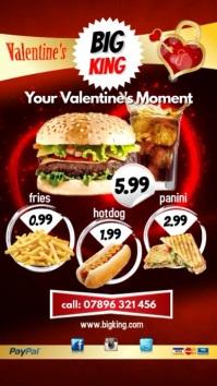 Valentines Event Restaurant Digital Display (9:16) template