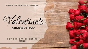 Valentines Facebook Cover Video template
