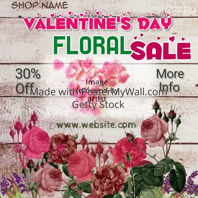 Valentines Floral Sale
