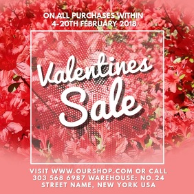 Valentines Flower Sale Video Template