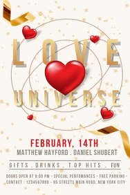 Valentines flyer, event flyer, party flyer