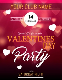 Valentines flyer, event flyer, party flyers