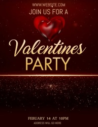 Valentines flyer, event flyer, party flyers template