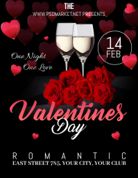 Valentines flyer, event flyer, party flyers 传单(美国信函) template