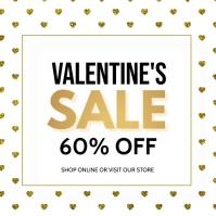 valentines flyer,event flyer Kvadrat (1:1) template