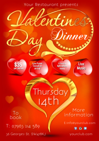 Valentines Flyer A4 template