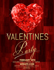 valentines flyer template,party template.event template
