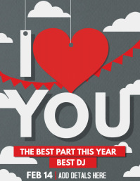 Valentines flyer templates,event templates