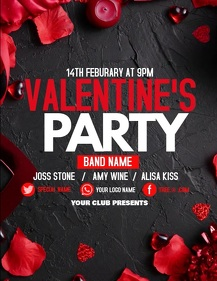 Valentines flyers, event flyers,party flyers