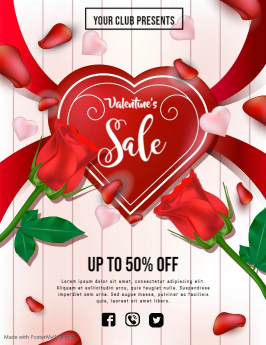 Valentines flyers,event flyer,party flyer template