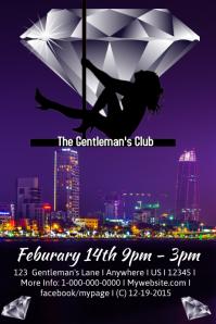 Valentines Gentlemans Club Template