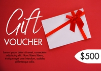 VALENTINES GIFT VOUCHER ไปรษณียบัตร template