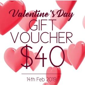 Valentines gift voucher
