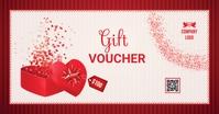 Valentines Gift Voucher Facebook 共享图片 template