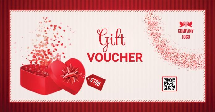 Valentines Gift Voucher Gambar Bersama Facebook template