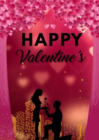 valentines greeting card A3 template