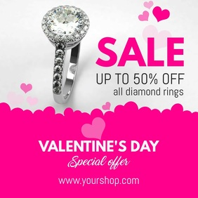 Valentines Jewelry Sale Video template Cuadrado (1:1)
